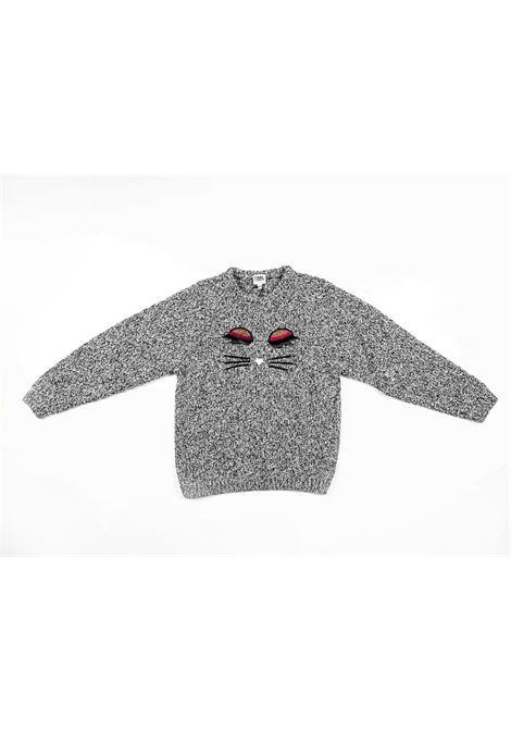 KARL LAGERFELD | wool sweater | KAR27GRIGIO PANNA