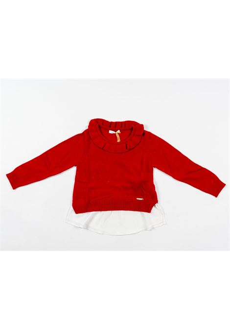 LIU-JO | wool sweater | LIU56ROSSO
