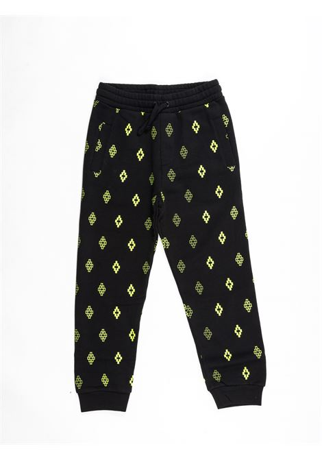 MARCELO BURLON | plushy trousers | MAR390NERO