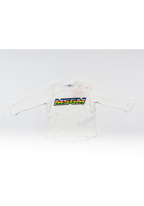 MSGM | t-shirt long sleeve | MSG100BIANCO