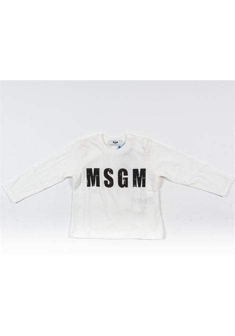MSGM | t-shirt long sleeve | MSG102BIANCO