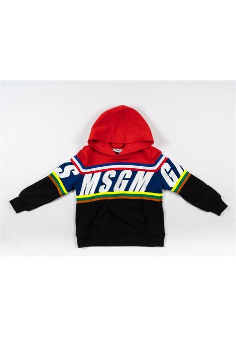 Felpa MSGM MSGM | Felpa | MSG75ROSSO NERO