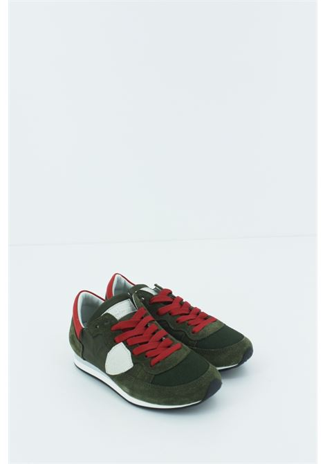 PHILIPPE MODEL | Sneakers | PMODE003VERDE-ROSSA
