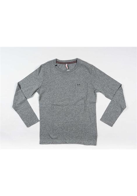SUN68 | t-shirt long sleeve | SUN103GRIGIO
