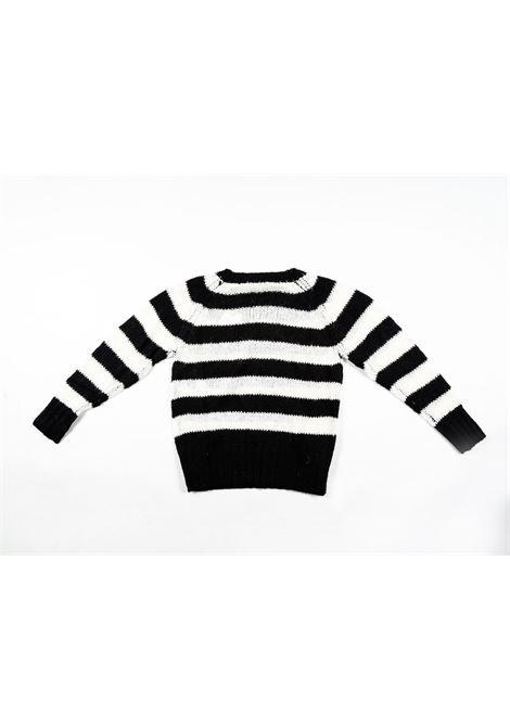 TWIN SET | wool sweater | TWI18RIGA BIANCO NERO
