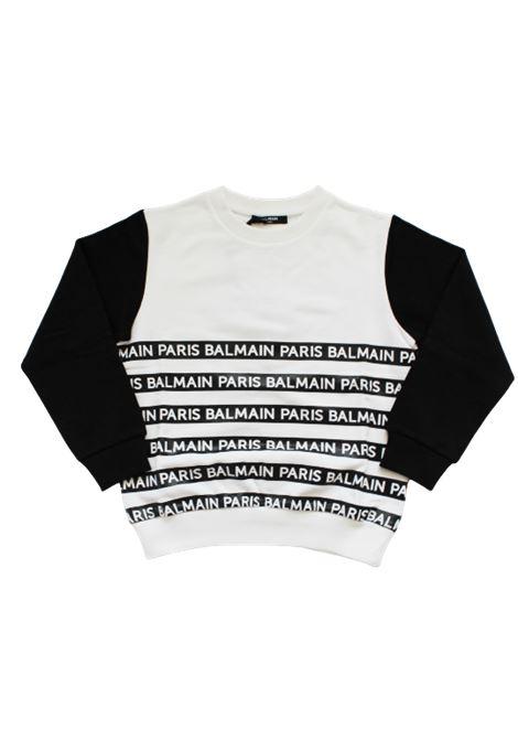 BALMAIN | sweatshirt | 6M4520BIANCO