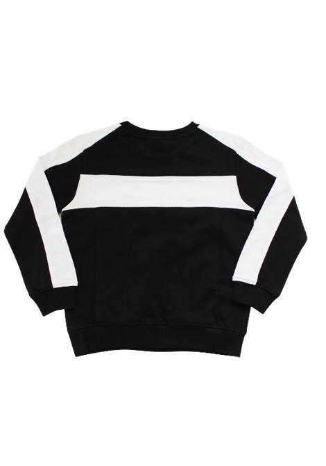 BALMAIN | sweatshirt | 6M4530BIANCO NERO