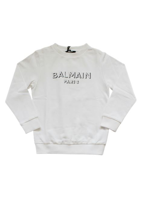 BALMAIN | sweatshirt | 6N4640BIANCO