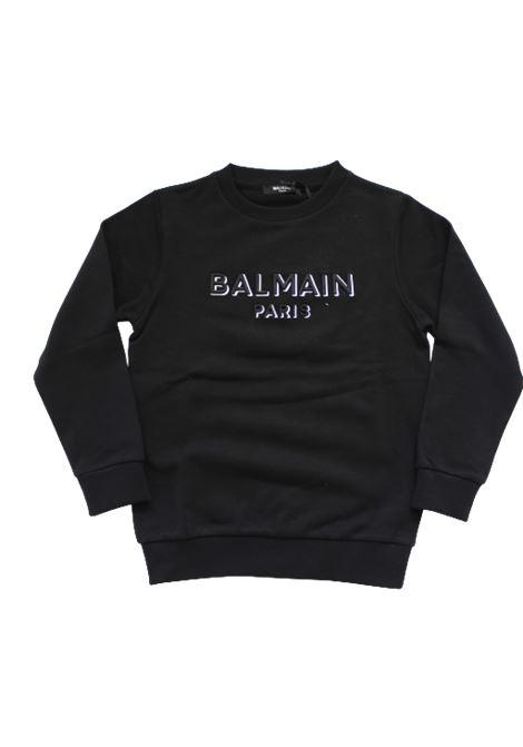 BALMAIN | sweatshirt | 6N4640NERO