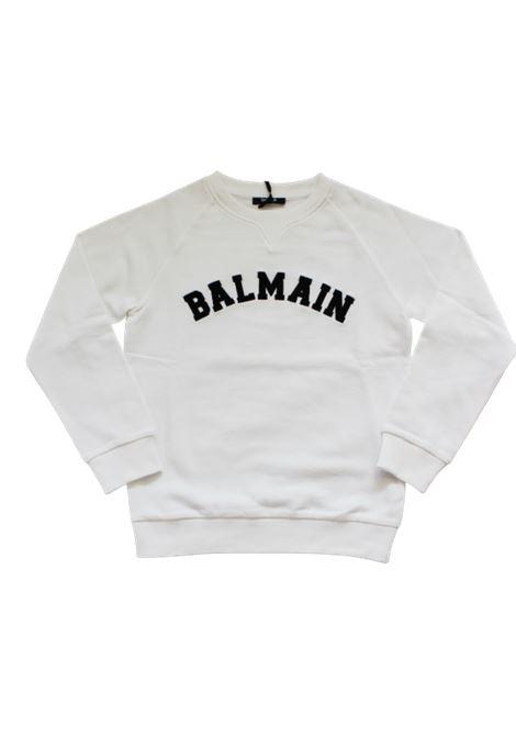 BALMAIN | sweatshirt | 6N4690BIANCO
