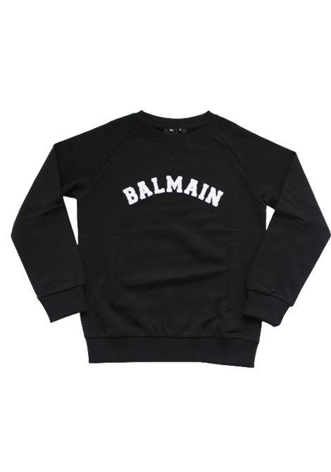 BALMAIN | sweatshirt | 6N4690NERO