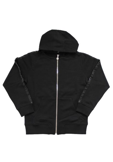 BALMAIN | sweatshirt | 6N4710NERO