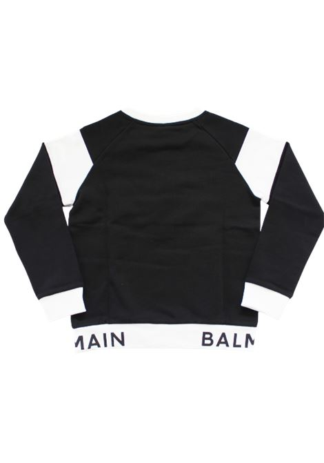 BALMAIN | sweatshirt | 6N4720NERO