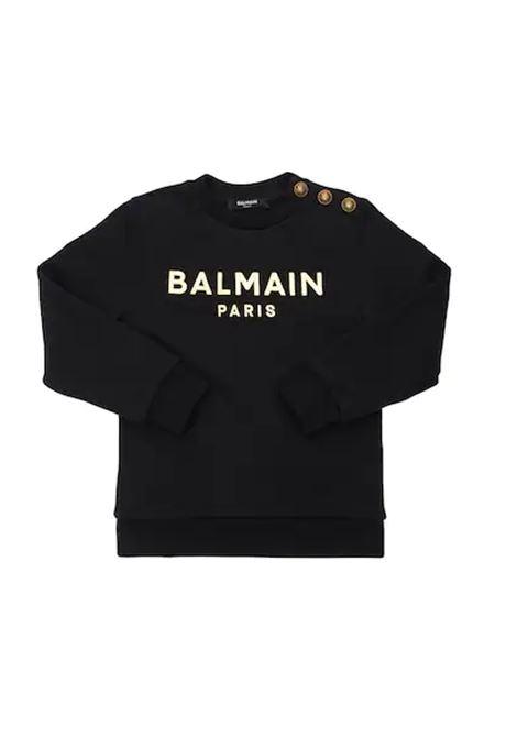 BALMAIN   sweatshirt   6P4110NERO LOGO ORO