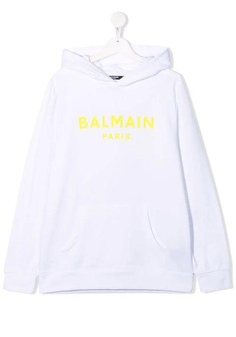 Felpa Balmain BALMAIN | Felpa | 6P4540BIANCO GIALLO