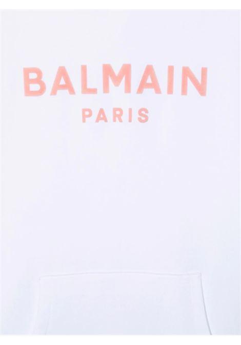Felpa Balmain BALMAIN | Felpa | 6P4540BIANCO ROSA