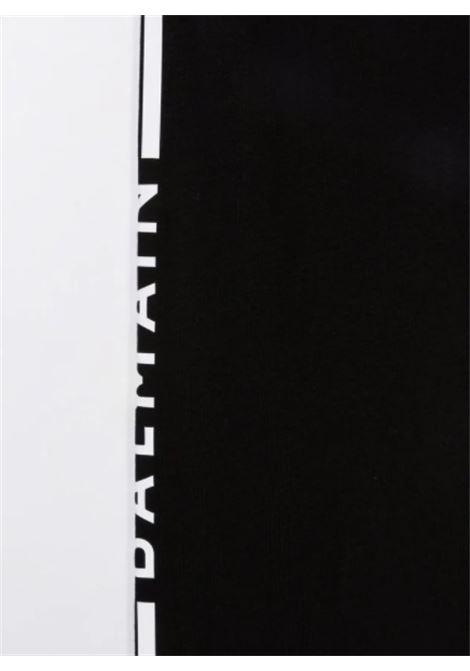 BALMAIN   leggins   6P6200NERO ARGENTO
