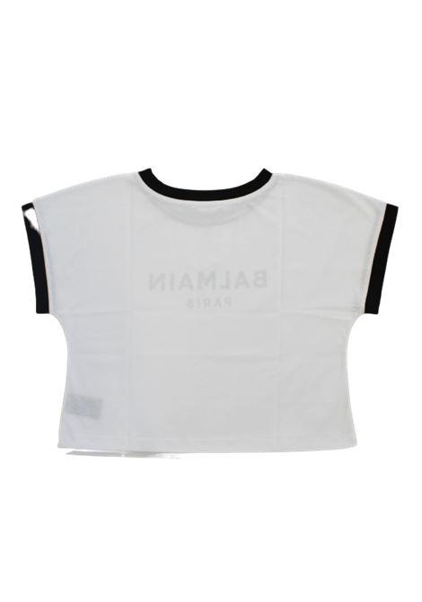 BALMAIN   T-shirt   6P8071BIANCO