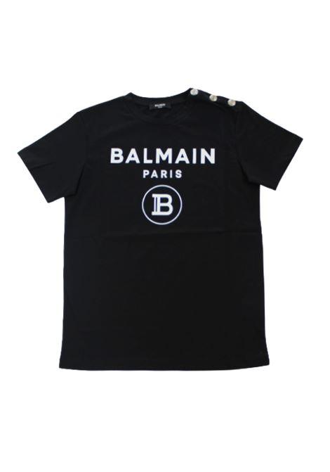 BALMAIN   T-shirt   6P8611NERO