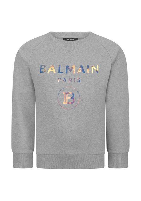 BALMAIN | sweatshirt | BAL45GRIGIO