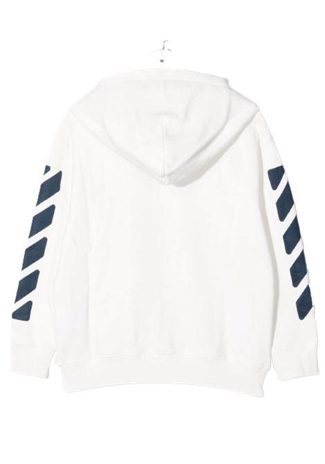 Felpa Off White. OFF WHITE | Felpa | OBBE001F21FLE0010146BIANCO