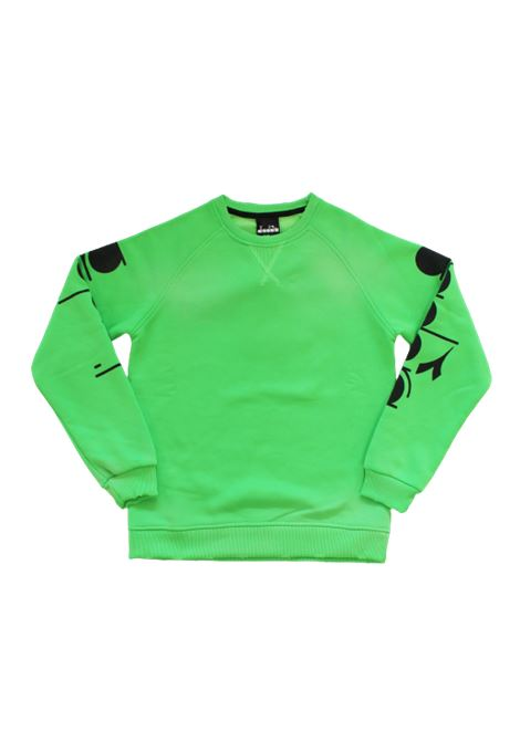 DIADORA | sweatshirt | 025718VERDE FLUO