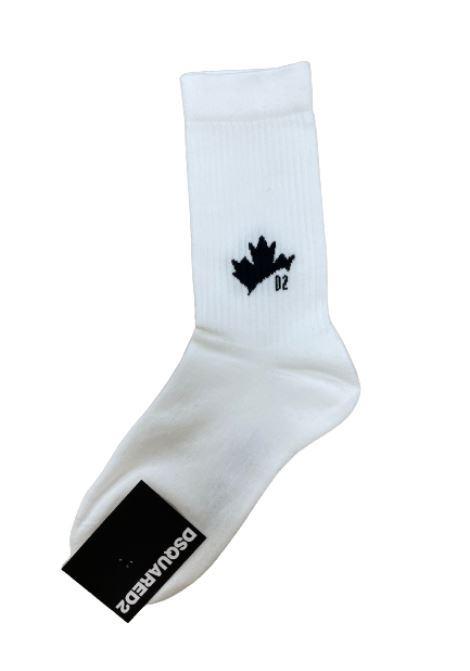 DSQUARED2   knee sock   DFV172070BIANCO