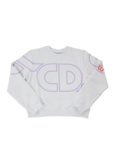 GCDS | sweatshirt | 028666BIANCO