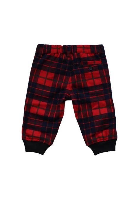 Pantalone Il Gufo IL GUFO | Pantalone | ILG494QUADRI ROSSO BLU