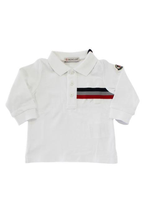 Polo Moncler MONCLER | T-shirt | F29518870220BIANCO