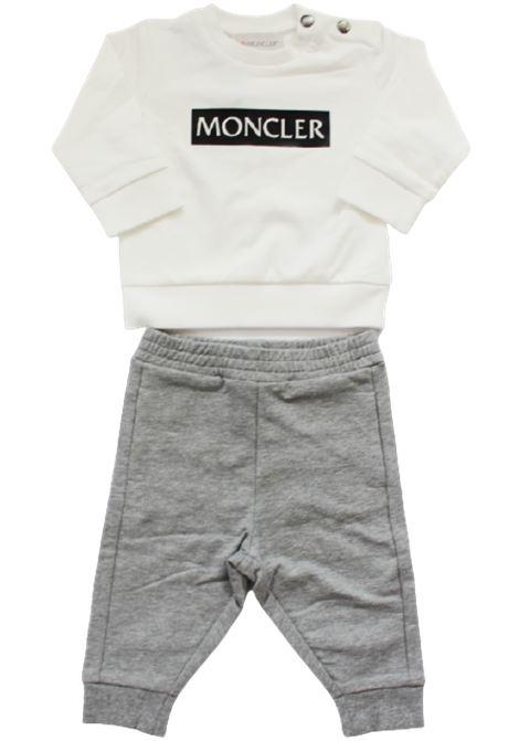 Tuta 2 pz Moncler MONCLER | Completo | F29518M72820BIANCO