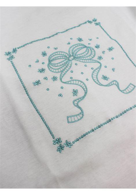 ALETTA | blanket+sheet | COP0041BIANCO-VERDEACQUA