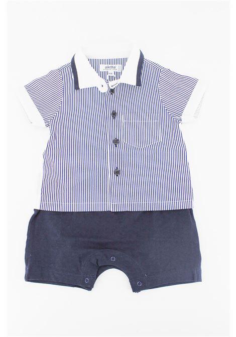 ALETTA | short suit  | TUT0179BLU -BIANCO
