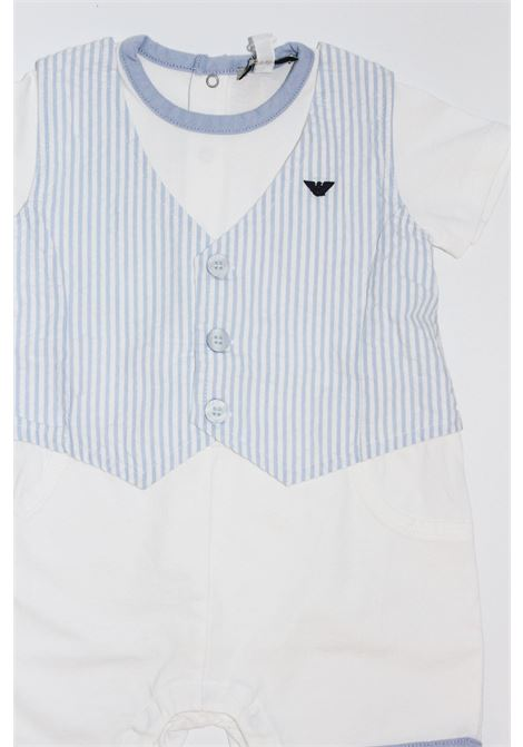 ARMANI | short suit  | TUT0261BIANCO-CELESTE