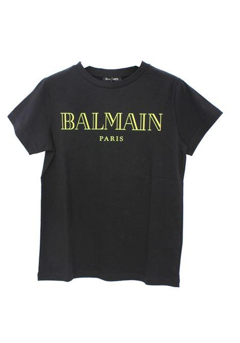 BALMAIN | T-shirt | BAL03NERO FLUO