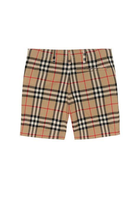 BURBERRY | Bermuda pants  | BUR272CHECK BEIGE