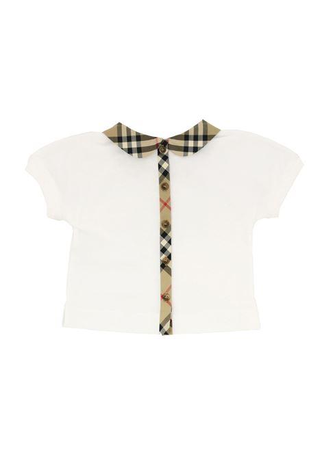 BURBERRY | T-shirt | BUR280BIANCO CHECK BEIGE