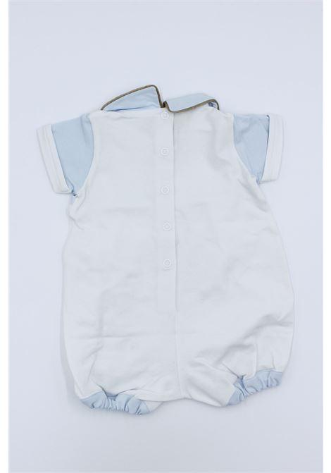 Tutina Byblos manica corta neonato BYBLOS | Pagliaccetto | TUT0303BIANCO-CELESTE