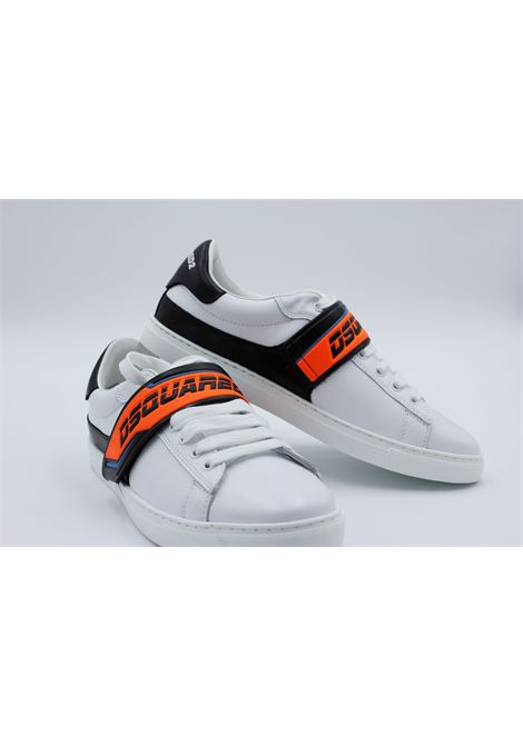 Sneakers Dsquared2 Uomo DSQUARED2 | Sneakers | M635BIANCA-ARANCIOFLUO