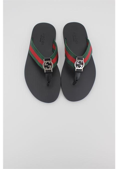 GUCCI | foot flip flops | 322744NERA