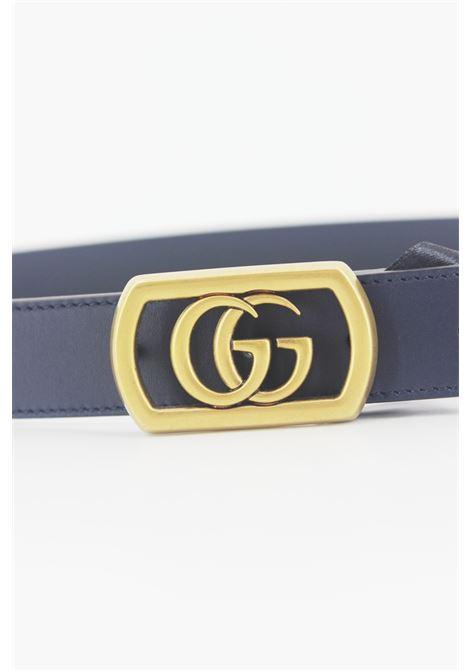 GUCCI | belt | 575587BLU-ORO