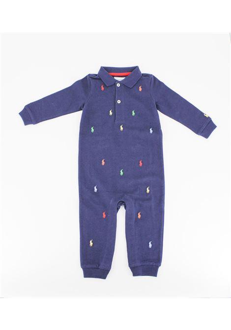 Tutina Polo Ralph Lauren manica lunga neonato RALPH LAUREN | Tutina | TUT0148BLU