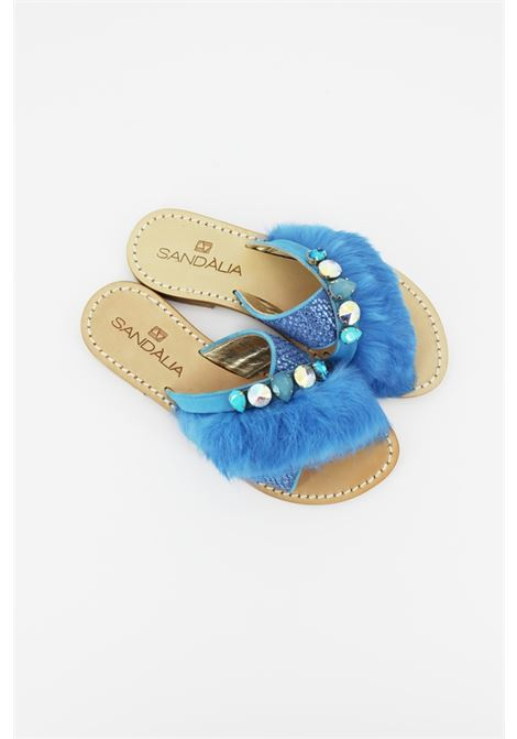 SANDALIA | slipper | SA03ACELESTE