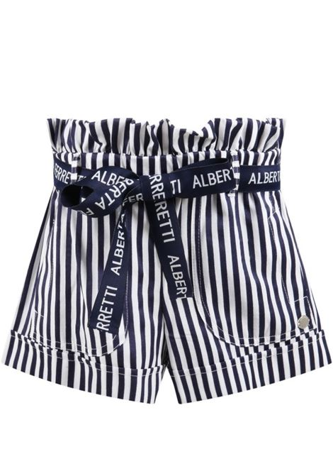 Shorts Alberta Ferretti ALBERTA FERRETTI | Shorts | 027428RIGA BIANCO BLU