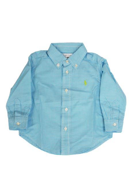 Camicia Polo Ralph Lauren POLO RALPH LAUREN | Camicia | POL240QUADRETTI B.CO TURCHESE