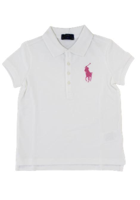 POLO RALPH LAUREN   T-shirt   POL97BIANCO FUXIA
