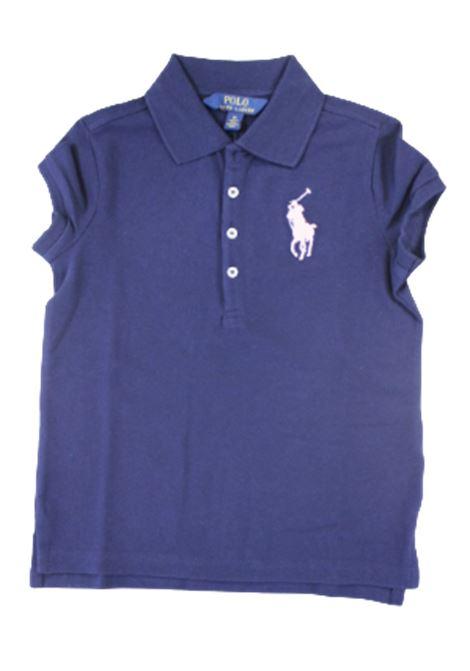POLO RALPH LAUREN   T-shirt   POL97BLU LOGO ROSA11