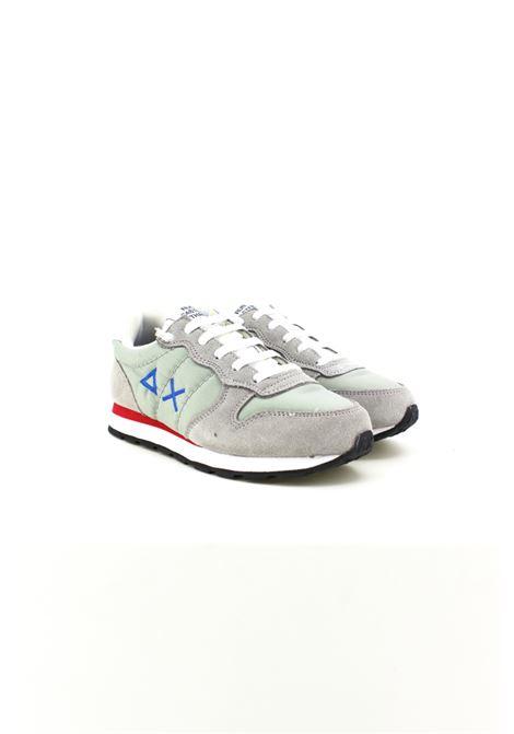 Sneakers Sun68 in camoscio grigio con logo bluette. SUN68 | Sneakers | Z19301GRIGIA