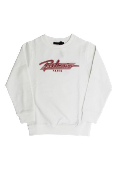BALMAIN | sweatshirt | 6O4710BIANCO FUXIA