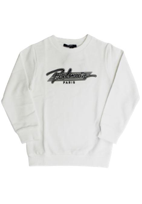 BALMAIN | sweatshirt | 6O4710BIANCO NERO
